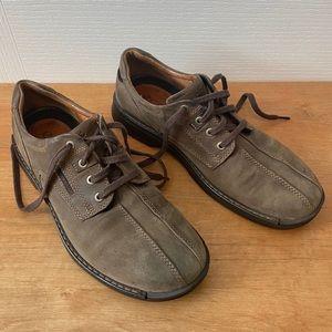 Ecco Brown Suede Men's Shoes